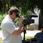 Hans Reinhart dokumentiert alles auf Video