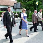 Landrat Martin Bayerstorfer, 3. BM Nicole Schley, Alt-BM Sepp Kern, BM Ernst Egner