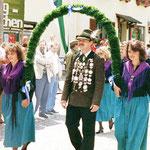 Jahr 1997: Schützenkönig: Paul Stefan beim 110-jährigen Jubiläum des Musikvereins Aichberg-Waldkirchen