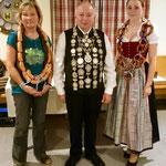 2014: Schützenkönig Brunner Karl-Heinz, Wurstkönigin Vollmer Dagmar Brezenkönigin Weidel Marion