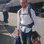 Kurz vor dem Abflug ab Hannover