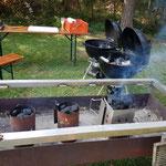 So liefen die Vorbereitungen für den Grill