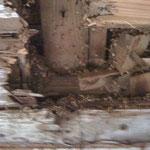 Balken unterm Küchenfußboden