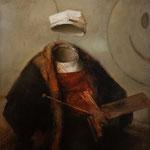 """Rembrandt deleted"" - Óleo/Tabla | 37,2 x 30,5 cm | 2015"