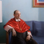 """Raúl Leopoldo Canosa Usera, Decano de la Facultad de Derecho de la UCM, Madrid"" - Óleo/Tabla | 100 x 81 cm | 2016"
