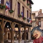 La Josette devant la Mairie de Mirepoix
