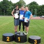 Podium 100m mężczyzn - miejsce 2- Szymon Wandzel - 11,1 sek