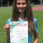 Sabina Słowiak - 2 miejsce - 800m- 2,35.11 min