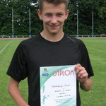 Kamil Małolepszy - 1 miejsce - 400m - 53,3 ek