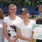 ZSME Żywiec 4x100m (od lewej: Aleksandra Temel, Karolina Mrowiec, Kaja Sołek, Ilona Porębska)