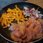 Rezept Haehnchen - chicken Fajita Wrap mit Jalapeno von hier kocht die Maus Foodblog