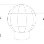 Aufblasbarer Werbeballon Konstruktion