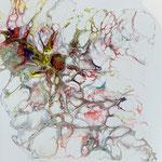 Ohne Titel, Acryl, Resin, Pouring auf MDF-Platte, 25 x 25 x 3 cm