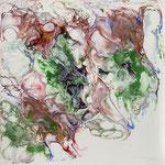 Ohne Titel, Acryl, Resin,Pouring auf MDF-Platte 25 x 25 x 3 cm