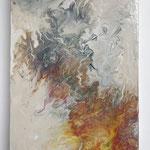 """""""Glücksgefühle"""" -  Acryl, Pouring auf MDF-Platte, 30 x 18 x 3 cm"""