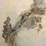 Ohne Titel, 2018, Acryl, Beizen, 90 x 60 x 4 cm