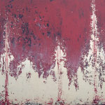 """Theater"" -  Acryl, Strukturmasse, Spachteltechnik,, 50 x 70 x 2 cm"