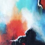 Achterbahn der Gefühle, 2018, Acryl, Mischtechnik, 85 x 85 x 4 cm