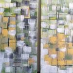 Ohne Titel, 2014, Acryl, 2 mal 60 x 60 x 2 cm