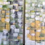 Ohne Titel, Acryl, 2 mal 60 x 60 x 2 cm