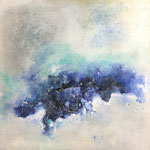 Die Tiefe, 2018, Acryl, Mischtechnik, 70 x 70 x 4 cm