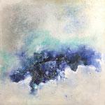 """""""Die Tiefe""""  -   Acryl, Mischtechnik, 70 x 70 x 4 cm"""