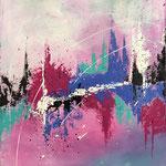 Farbenfroh, 2017, Acryl, 60 x 50 x 2 cm