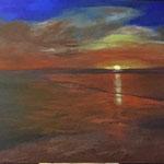 Sonnenuntergang, 2014, Acryl, 100 x 140 x 4 cm
