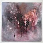 Die Stimme des Herzens, 2018, Acryl, Mischtechnik, 59 x 60 x 2 cm