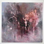 """""""Die Stimme des Herzens"""" -   Acryl, Mischtechnik, 59 x 60 x 2 cm"""