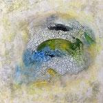 Ohne Titel, 2018, Acryl, Mischtechnik, 45 x 45 x 4 cm