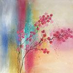 Sommer, 2016, Acryl, Strukturmasse, 60 x 60 x 2 cm