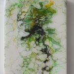 Ohne Titel, Acryl, Resin, Pouring auf MDF-Platte, 24 x 18 x 3 cm