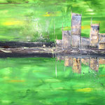"""""""Fabrik"""" - Acryl, 60 x 80 x 2 cm"""