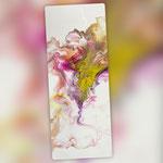 Ohne Titel, Acryl, Resin, Pouring auf Holz, 20 x 50 x 4 cm