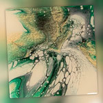 Untersetzer, Acryl, Resin, Pouring auf MF-Platte, 11 x 11 cm