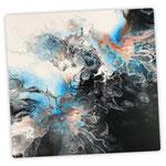 Yin Yang,  Acryl, Resin, Pouring, 50 x 50 cm zzgl. Rahmen