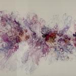 """""""Pracht"""" -  Acryl, Resin, Pouring auf Holz, 135 x 45 x 4 cm"""