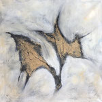 Ohne Titel, Acryl, Collage, 70 x 70 x 2 cm