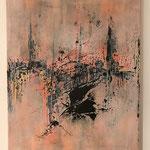 """""""Die Brücke""""  -  Acryl, Strukturmasse, 50 x 40 x 2 cm"""