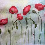 Mohnblumen, 2015, Aquarell auf Papier, 24 x 32 cm