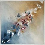 Pferde Herde, 2018, Acryl. 45 x 45 x 2 cm