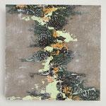 Ohne Titel, Acryl auf MDF-Platte, 20 x 20 cm x 3 cm