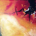 Stierblut, 2014, Acryl, 100 x 170 x 4 cm