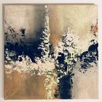 Ohne Titel, 2018, Acryl, Strukturmasse, 50 x 50 x 2 cm