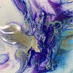 Ohne Titel, Acryl, Resin auf MDF-Platte, 10 x 10 x 3 cm