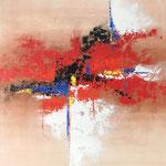 Ohne Titel, 2017, Acryl, Strukturmasse, 110 x 100 x 4 cm