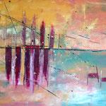 """Sonnenabend"" -  Acryl, 100 x 150 x 4 cm"