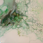 Ohne Titel, Acryl, Resin, Pouring auf MDF-Platte, 15 x 15 x 3 cm