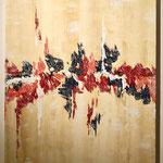 """""""Afrikanisch""""  -   Acryl, 100 x 80 x 4 cm"""